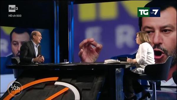 Zingaretti: 'Salvini mette veleno'. E boccia la Marini: 'grave errore politico'